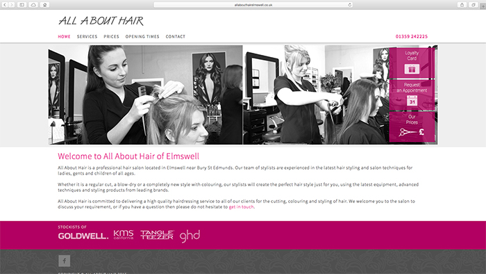 All About Hair Elmswell-Sab Design-Responsive-Websites-Bespoke-Optimised-Suffolk